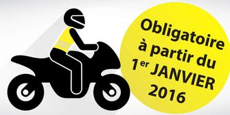 Gilet de s curit haute visibilit obligatoire pour les motards partir du 1er janvier 2016 - Port du gilet obligatoire ...