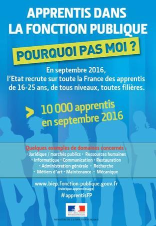 db509f58541 L État recrute 10 000 apprentis de 16 à 25 ans en septembre 2016