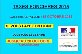 Taxes fonci res date limite de paiement actualit s accueil les servic - Date limite paiement taxe fonciere ...